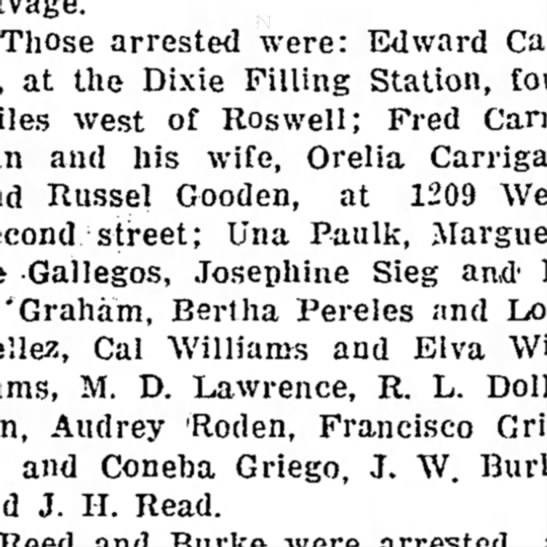 - Those arrested were: Edward at the Dixie...