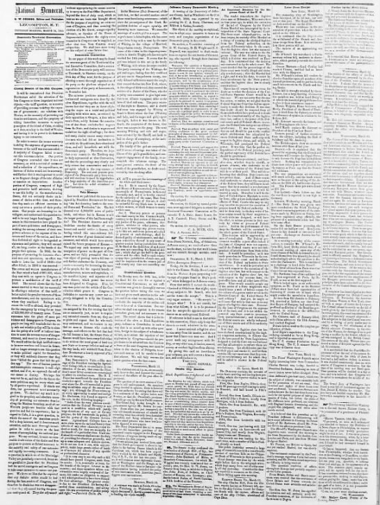 Jesse Newell's letter in (Lecompton) Democrat - Hational Jlcmotrat S. W. DRIOGS, Editor and...