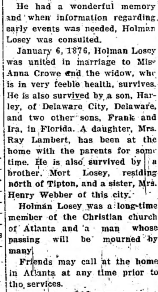 Tipton Tribune (Tipton, Indiana) March 20, 1936 pg 8 - He had a wonderful memory and'when information...