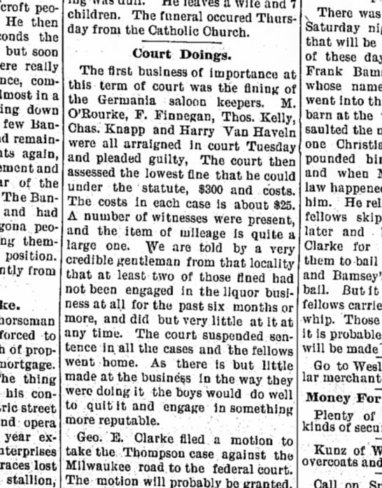 algona courier 15 dec 1893 - people He then the but soon really commenced...