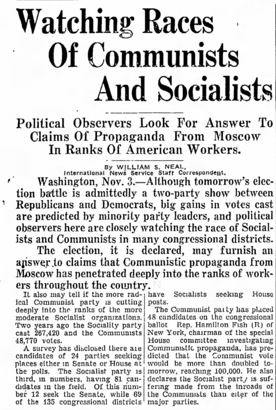 - Watching Races Of Communists And Socialists...