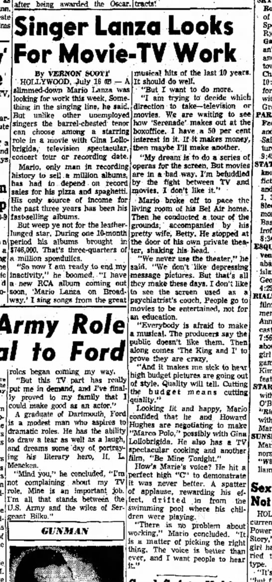 Lanza 1956 interview