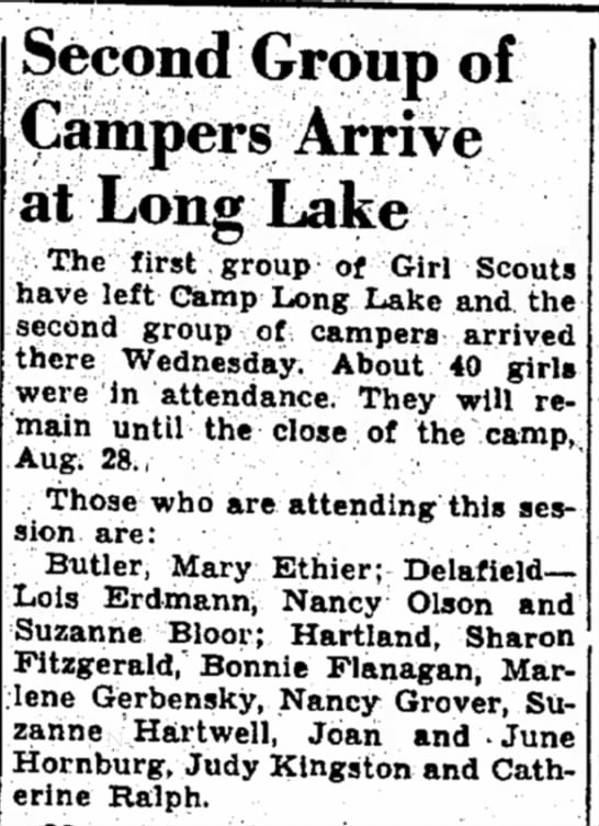 - Second Group of Campers Arrive at Long Lake The...