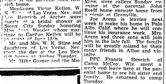 stine visit, mickey 9 Jun 1955