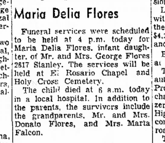 Maria Delia Flores - charge yester- two Dolezal, daughters,...