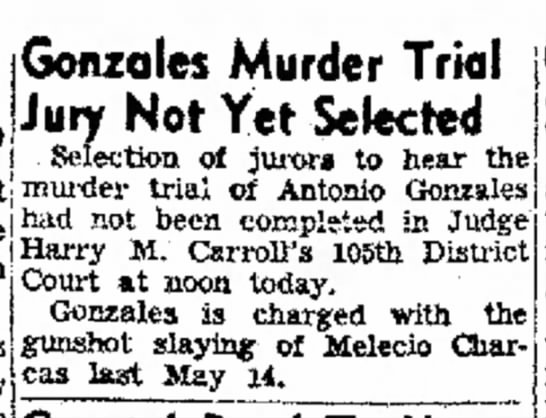 Melecio Charcas - Gonzdles Murder Trial Jury Not Yet Selected...