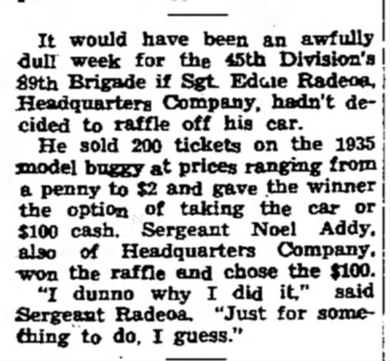 Addy Noel 11 July 1941 p3 - It would have been an awfully - dufl week for...