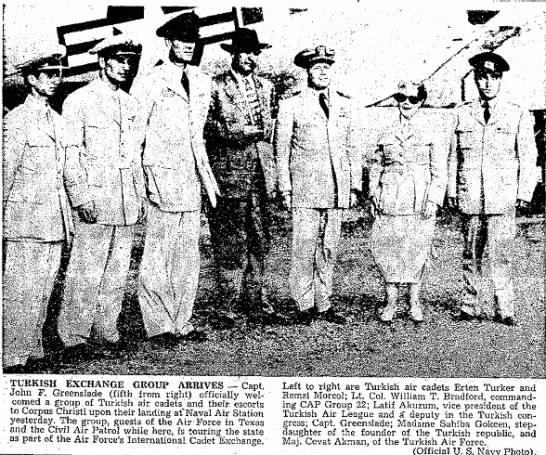 William Taylor Bradford - TURKISH EXCHANGE GROUP ARRIVES -- Capt. John F....