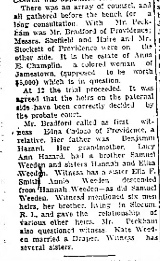 Newport Mercury (Newport, Rhode Island) May 11,, 1928  - There was an array of counsel, an all gathered...