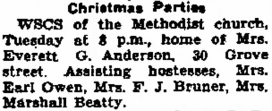 Grandma Beatty Christmas Party - with pjn. Christmas Parties WSCS of the...