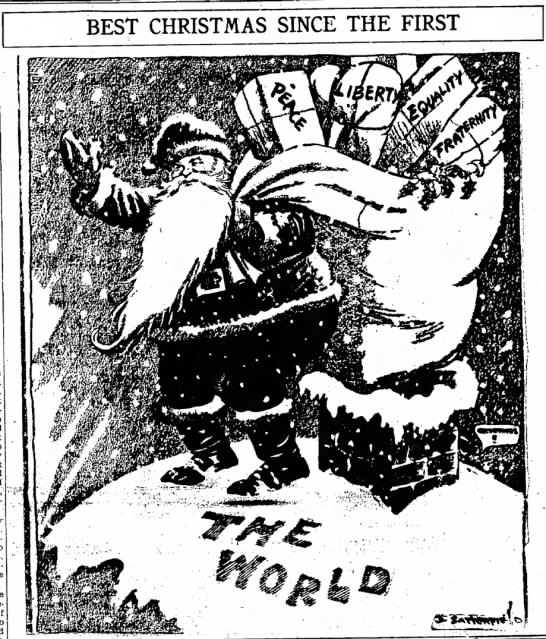 Christmas Peace 1918 - BEST CHRISTMAS SINGE THE FIRST Yuletide machine...