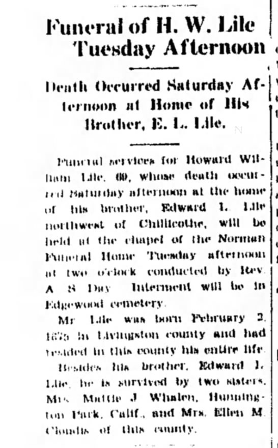 H. W. Lile (b. 2 Feb 1875), bro., E.L. Lile