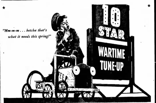 "10-Star Wartime Tune-Up - the a af- the R. Monm- ""Hm-m-m . . . betcha..."