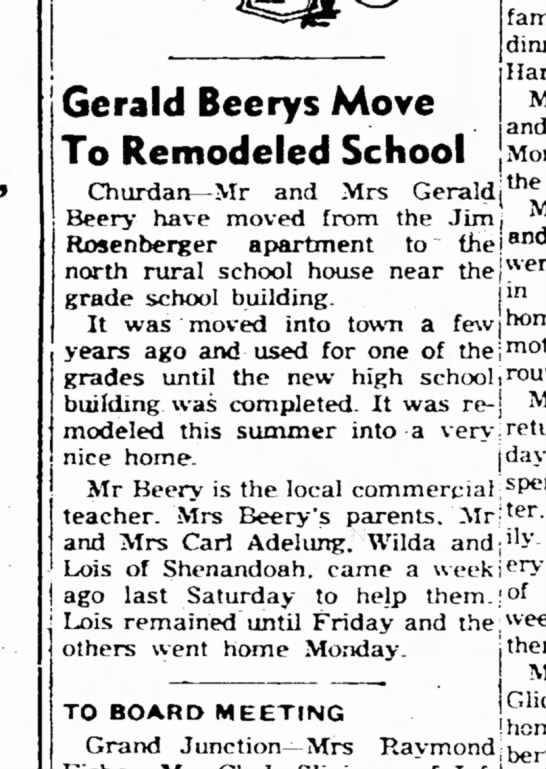 GERRY BERRY - Use and Gerald Beerys Move To Remodeled School...