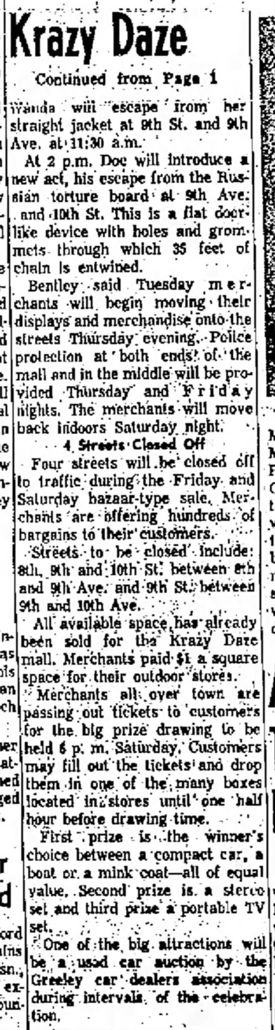 Greeley Daily Tribune - Greeley CO 12 July 1960 - before included; , w i I h mid Slu- by...