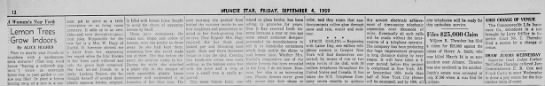 Early reference to lemon juice containers - 12 rvTUNCIB STAR, FRIDAY, SEPTEMBER 4. 1959 A...