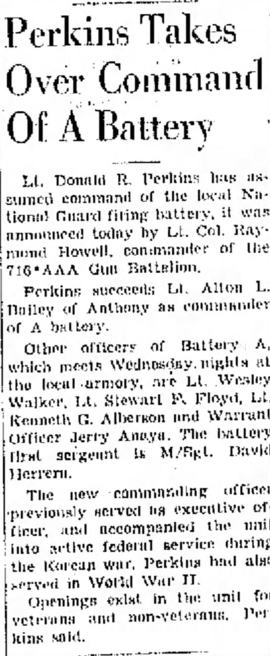 7 Feb 1955  Donald R Perkins