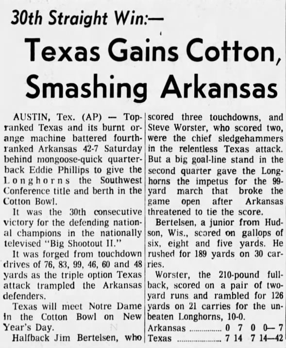 1970 Texas-Arkansas football