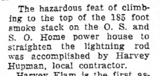 X gazette 11 may 1936 - The hazardous feat of climbing climbing to the...