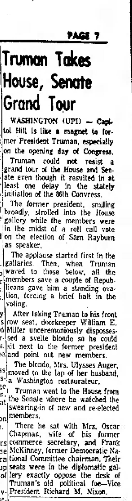Anderson Herald (Anderson IN) 8 Jan 1959 - PAfii 7 was House, Grand Tour WASHINGTON (UPI)...