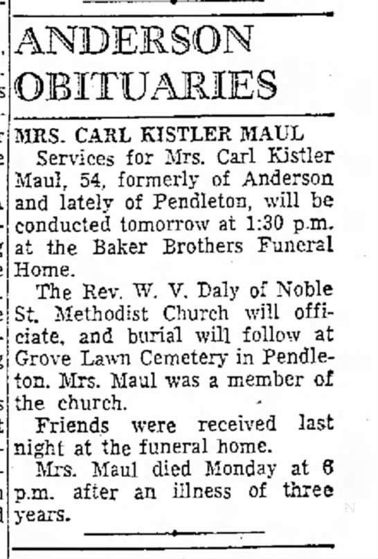 Anderson Herald (Anderson, Indiana) •  14 Sep 1955, Wed • Page 2 Beatrice R Kistler