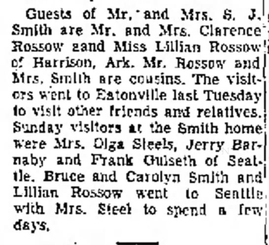 - Guests of Mr.'and Mrs. S. J. Smith are Mr. and...