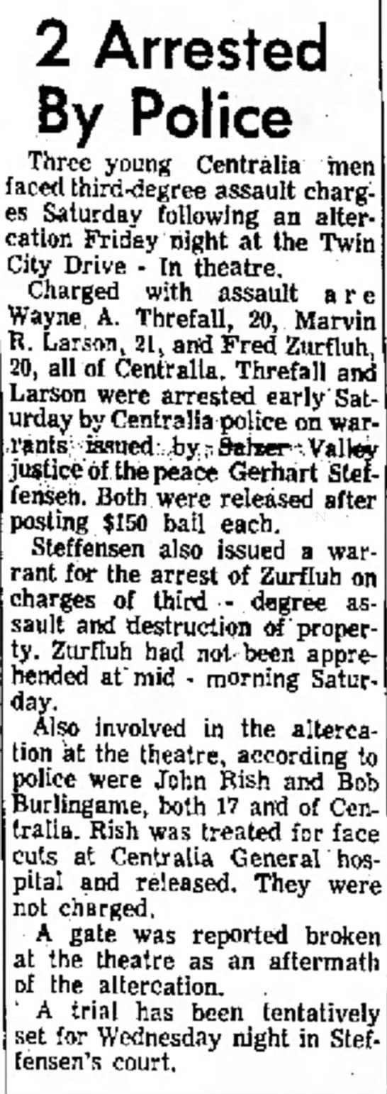 Sonny Zurfluh - of a o 2 Arrested By Police Three young...