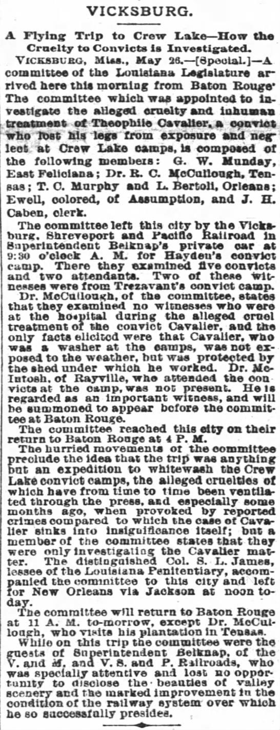 May 27, 1886 - Crew Lake