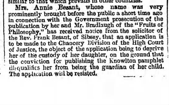 blurb --- Besant Annie custody 1878