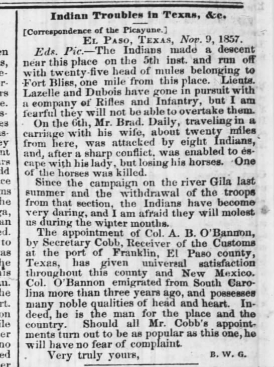 The Times-Picayune, New Orleans, 3 Dec 1857, pg. 1