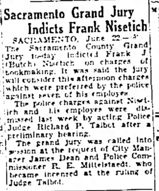 Nisetich - Grand Jury Indicts  - Sacramento Grand Jury of Indicts Frank Nisetich...