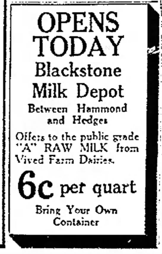 Blackstone Milk Depot, Vived Farm Dairies - r c d in OPENS TODAY Blackstone Milk Depot...