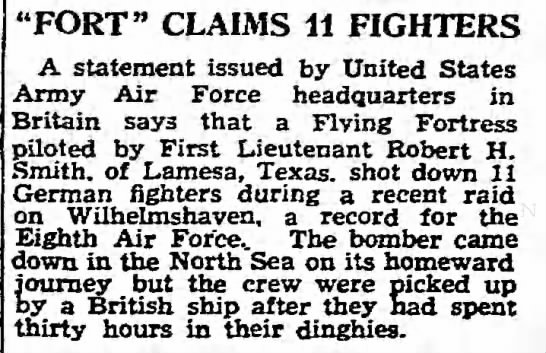 "- ""FORT"" CLAIMS 11 FIGHTERS A statement issued by..."