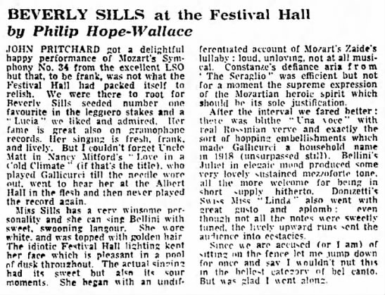 - BEVERLY SILLS at the Festival Hall by Philip...
