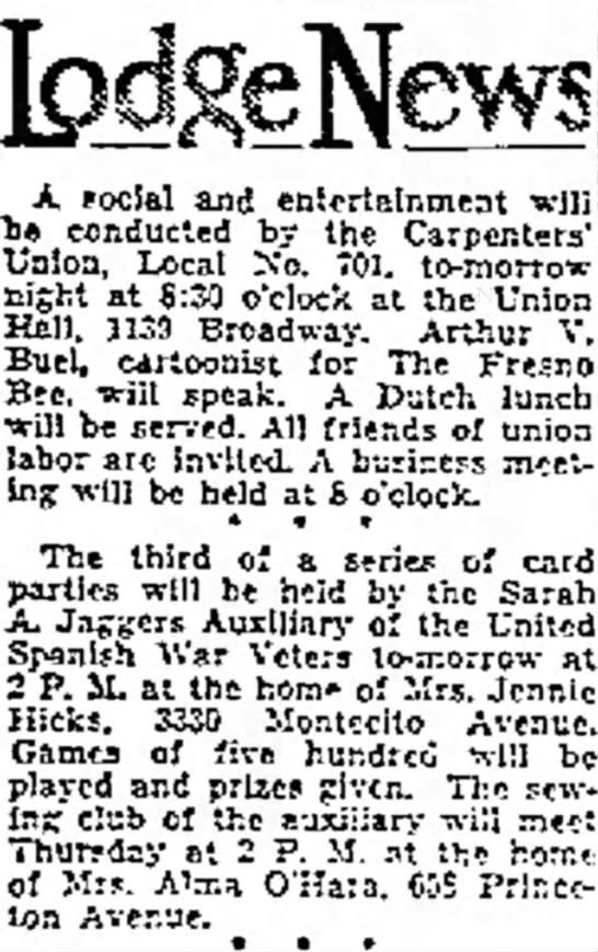 The Fresno Bee The Republican (Fresno,CA)  23 Oct 1933