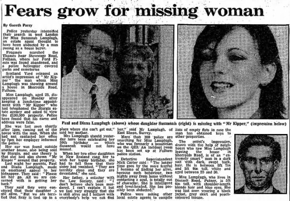 Suzy Lamplugh Disappearance