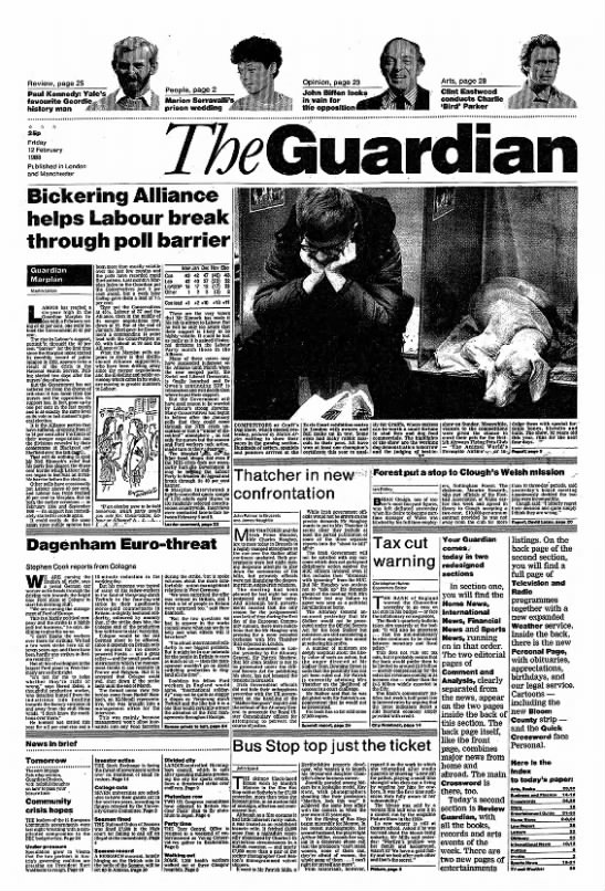 Redesigned front page of the Guardian, 1988 - Review, page 25 Paul Kennedy: Yale's favourite...