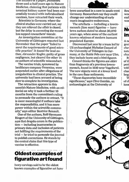 The Guardian, Thursday, September 4, 2003 p.58 - a paper, three-and-a-half three-and-a-half...