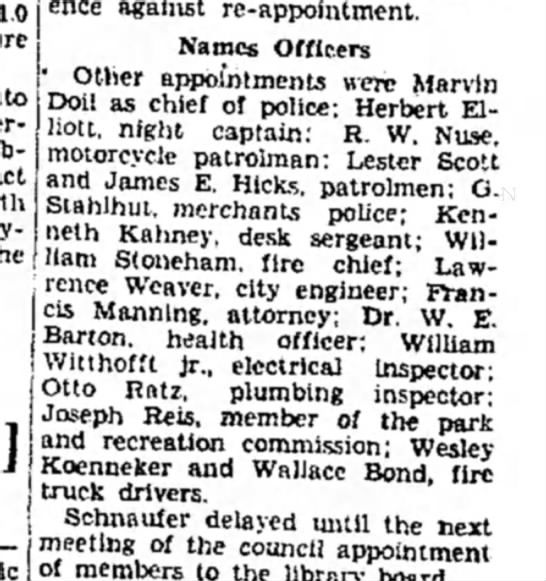 F Manning - ence against re-appointment. Names Officers '...