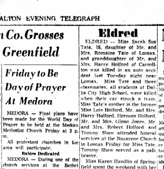 - ALTON EVENING TELEGRAPH Co. Grosses Greenfield...