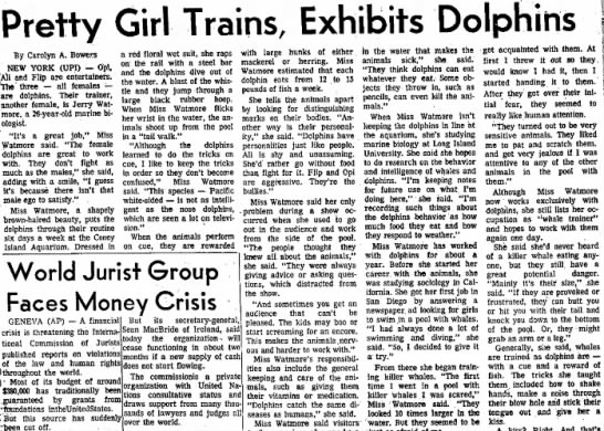 - Pretty Girl Trains, Exhibits Dolphins By...