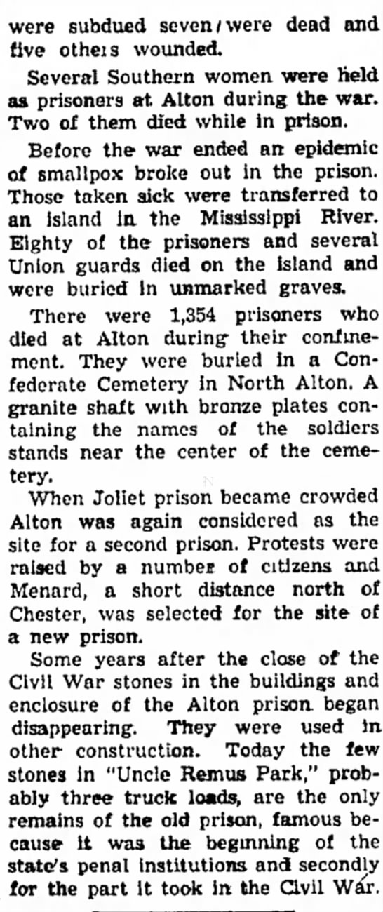 excerpt on Alton Prison cont. - part state derived more were were subdued seven...