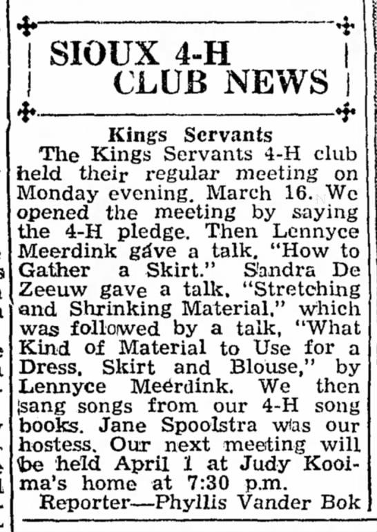 Spoolstra, Jane 19530326 Article Iowa