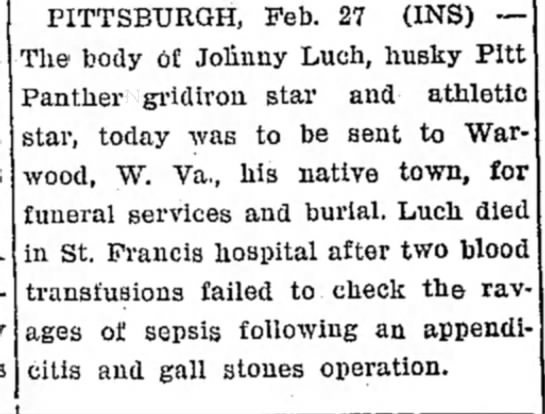 Feb 27 1933  Johnny Luch