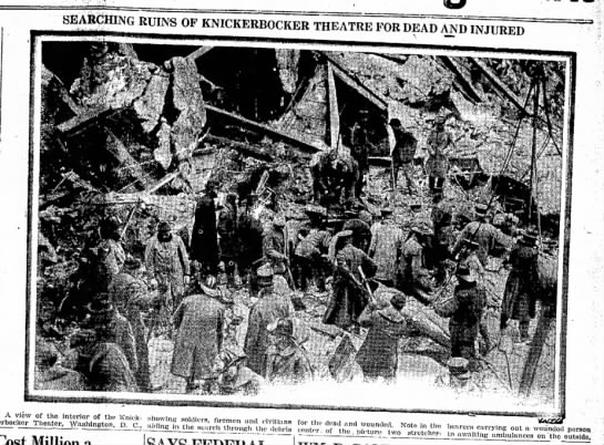 Rescue Search - SEARCHING RUINS OF KNICKERBOCKER THEATRE F...