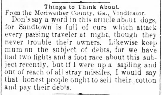 13 Dec 1882 Sandtown - Things ThinKS Things ThinKS to Think Thmk Think...