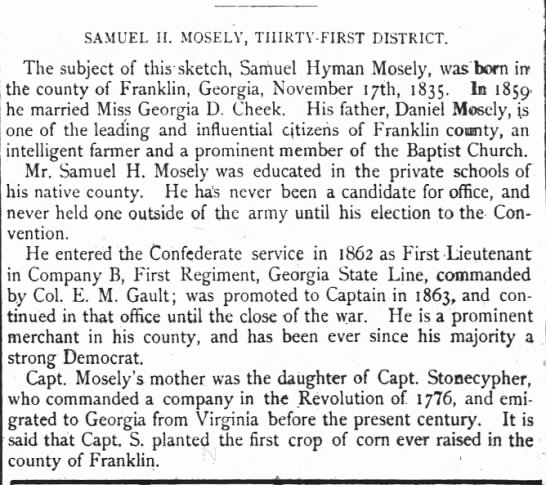 Samuel H Mosely
