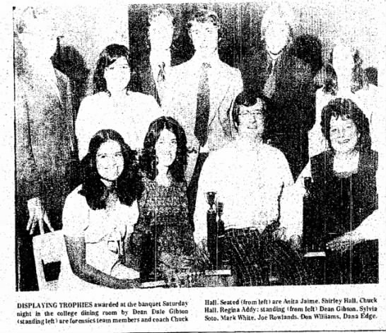 Addy Regina 28 Mar1975 p5 - DISPLAYING TROPHIES awarded at the banquet...