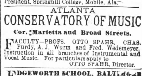 Otto Spahr Atlanta Constitution 1883 - Sprlughlii Sorinehill Sprlughlii Sorinehill...