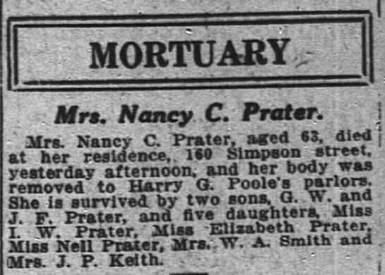 Mrs. Nancy C. Prater - MORTOAKY Nancy. Nancy Nancy. Nancy JC. JC C. C...
